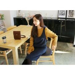 Envy Look - Brushed-Fleece Jumper Dress