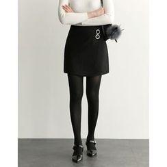 UPTOWNHOLIC - Metallic-Detail Skirt