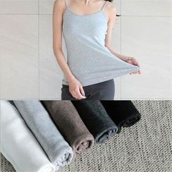 YOOM - Brushed Fleece Spaghetti Strap Top