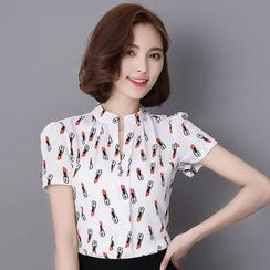 In the Mood - Short-Sleeve Chiffon Shirt