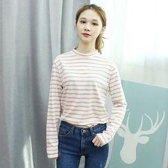 Dodostyle - Round-Neck Stripe T-Shirt