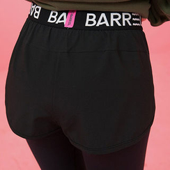 chuu - Inset Shorts Lettering Yoga Pants