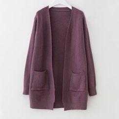 Meimei - Open Front Long Cardigan