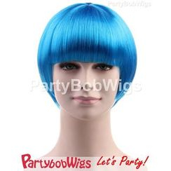 Party Wigs - PartyBobWigs - Party Short Bob Wig - Neon Blue