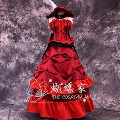 Coshome - Black Butler Madam Red Cosplay Costume