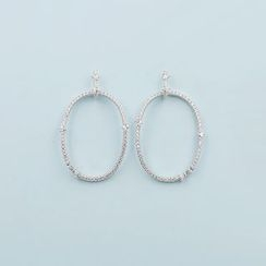 Love Generation - CZ Circle Statement Earrings