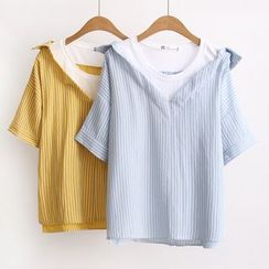 Angel Love - Short-Sleeve Mock Two Piece T-Shirt