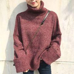 Dute - Mélange Turtleneck Sweater