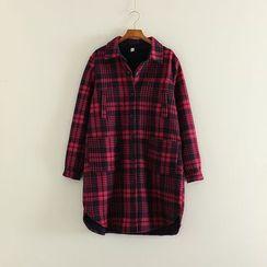 三木社 - 格子长款衬衫