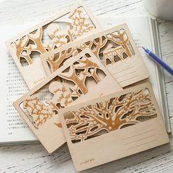 Homey House - Cutout Wooden Postcard