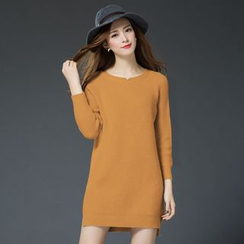LANA - Long-Sleeve Knit Dress
