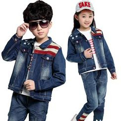 Pegasus - Kids Set: Denim Jacket + Jeans + Long-Sleeve T-Shirt
