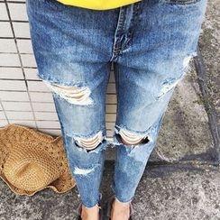 Octavia - Distressed Jeans