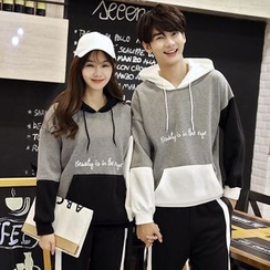 Tabula Rasa - Couple Matching Color Block Hoodie