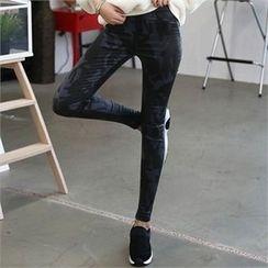 CHICFOX - Banded-Waist Camouflage Coating Pants