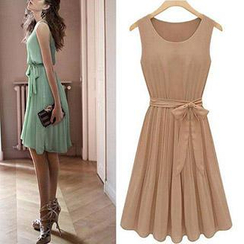 Dream a Dream - Sleeveless Chiffon A-Line Dress