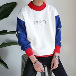 JUN.LEE - Distressed Lettering Pullover