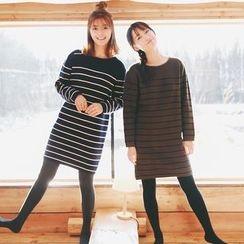 Kuki Cat - Striped Sweater Dress