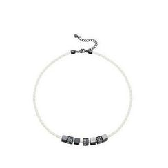 Italina - Swarovski Elements Cube Faux-Leather Necklace