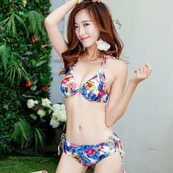 Beach Date - Set: Floral Bikini + Scarf