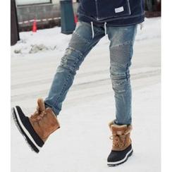 ABOKI - 做旧牛仔裤