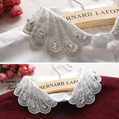 Debii - Jeweled Embroidered Decorative Collar