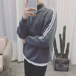 JORZ - Striped Mock Neck Sweatshirt