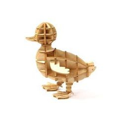Team Green - Plywood Puzzle - Duck