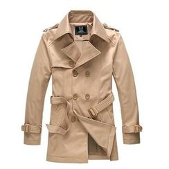 JIBOVILLE - Double-Breasted Belted Trench Coat