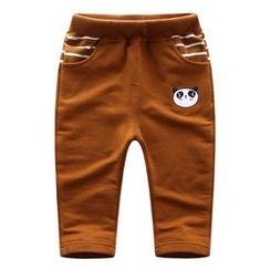 Endymion - 童装熊猫印花束腰裤