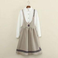 Mushi - Anchor Jumper Skirt