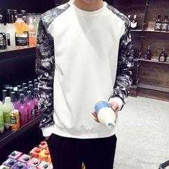 JVR - 碎花拼接套頭衫
