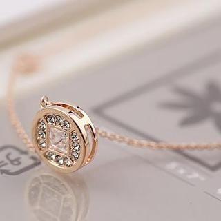 Love Generation - Rhinestone Coin Necklace