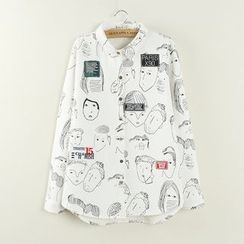 Angel Love - Fleece Lined Printed Shirt