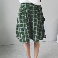 Fashion Street - Plaid A-Line Skirt