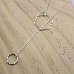 A'ROCH - Geometric Lariat Necklace