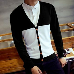 Consto - Colour Block Cardigan