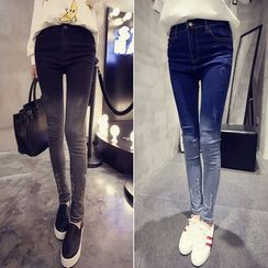 Glen Glam - Washed Skinny Jeans