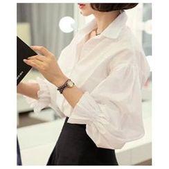 Dowisi - Frill Cuff Long-Sleeve Shirt