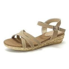 MODELSIS - Cross-Strap Wedge Sandals