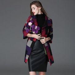 Elabo - 格子羊毛混纺大衣