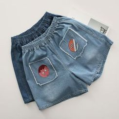 Piko - Embroidered Denim Shorts