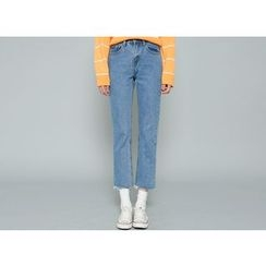 Envy Look - Fray-Hem Straight-Cut Jeans