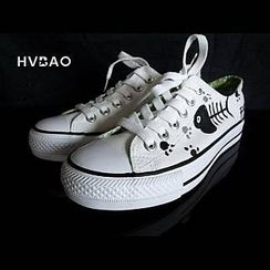 HVBAO - 'Cat Delicacy' Canvas Sneakers