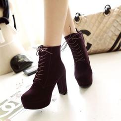 ZIMA - Platform Block Heel Ankle Boots