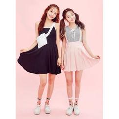 icecream12 - Detachable Suspender Mini Skirt