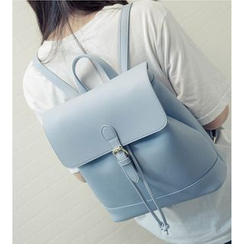 Merlain - Flap Faux Leather Backpack