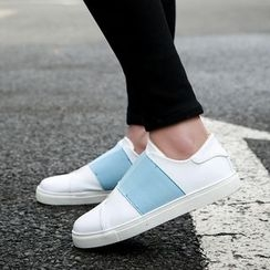 Gerbulan - Elastic Strap Slip On Sneakers