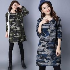 Splashmix - Camouflage Print Shift Dress