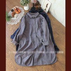 Rosadame - Plain Long-Sleeve Shirt